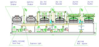 Drawing of 2000 gpm slurry separation system