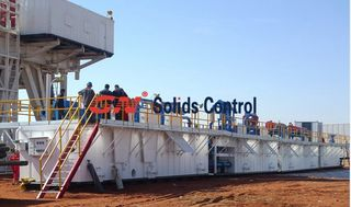 Oil drilling solids control system 4