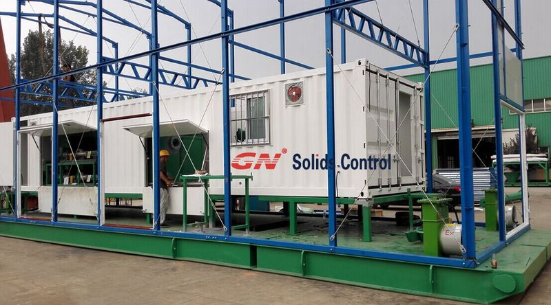 Containerized drilling waste management system