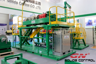Drilling waste management decanter centrifuge